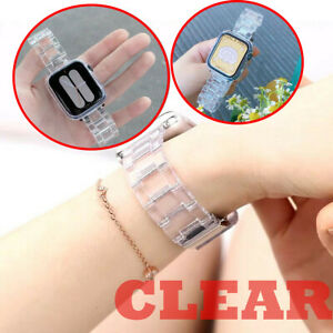 For Apple Watch Sereis 5 4 3 2 1 Clear Plastic Transparent Replacement Strap NEW