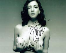 Dita Von TEESE Actress SIGNED Nude Sexy Photo B AFTAL Autograph COA Burlesque