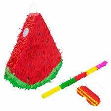 Watermelon Pinata Buster Stick Blindfold Set Game Toy Party Birthday Kids