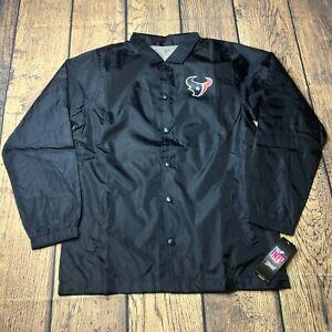 NFL Youth Boys Large 14/16 Houston Texans Bravo Coaches Windbreaker Jacket