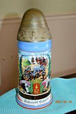 Antique Regimental Military Field Artillery German Beer Stein, Screw-Off Lid