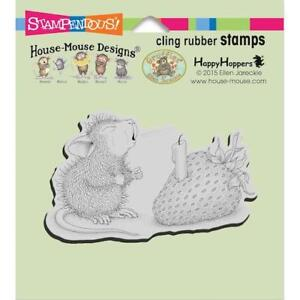 Stampendous House Mouse Cling Rubber Stamp - Strawberry Wish HMCM18