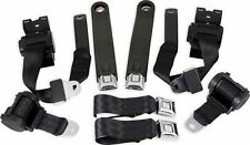 RetroBelt 74-81 Chevrolet Camaro Firebird 3 Point Retractable Seat Belts Black