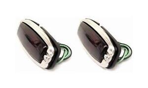 1941 - 1948 Chevy Car Street Rod Tail Light Assembly PAIR Glass Lens Lights