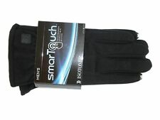 ISOTONER Men's Smart Everyday Touchscreen Compatible Gloves Black Size XL