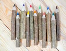 Holzbuntstifte Malstifte 55 Stück !!!- Rustikaler Stift .Wood crayon