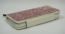Pink Bling Made with Swarovski Crystals Glitter Card Wallet Case Cover iPhone 5