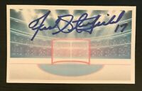 FRED STANFIELD NHL Boston Bruins Auto Autographed Signed Custom 3x5 Index Card
