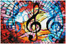 Diamond Painting Kit Dotz 5D 2D Gem TRIPLE TREBLE 40 x 27cm Rainbow Music FULL
