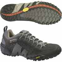 Mens Merrell Intercept Mens Walking Training Casual Comfortable Shoes - Black