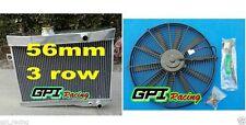 3ROW aluminum radiator Volvo Amazon P1800 B18 B20 engine GT 1959-1970 M/T+FAN