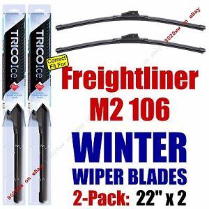 WINTER Wiper Blades 2-Pack Premium fit 2001+ Freightliner M2 106 - 35220x2