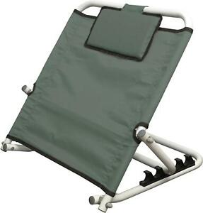 Deluxe 5 Position Adjustable Fabric Bed Back Rest Disability Mobility Aid - Grey