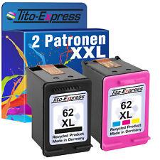 2 Patronen ProSerie für HP 62 XL Envy 5540 5542 5544 5545 5547 5548 5640 5642