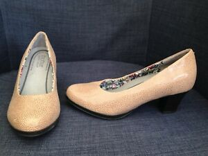 HOTTER ANGELICA Ladies Brown Leather Court Shoes @ Size UK 4 US 6 EU 37