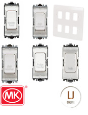Mk Grid Plus Control Grid Switch Kitchen Control Components White Front Plate