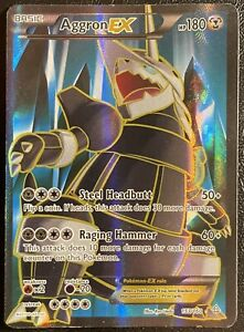 Pokemon Primal Clash Aggron EX 153/160 Full Art Played Condition Fast Shipping!