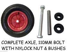 "14"" Pneumatic WHEELBARROW Wheel/Inflatable Tyre 3.50/4.00-8 + axle"