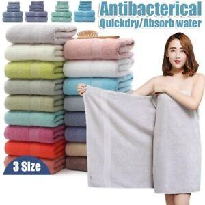 Cotton Bath Beach Towel for Adult Fast Drying Soft Thick Absorbent Antibacterial
