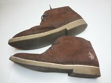 US Polo Cuuckka Style Boots Brown 2 Eye Lace Up Gum Soles Mens Shoes Size 13