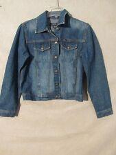 V7175 IZOD Metal Button Up Jean Jacket Women's M