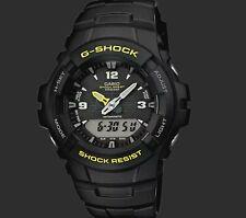 Casio G-Shock G100 Men Wrist Watch Black w/Yellow Letters Nice Clean Condition