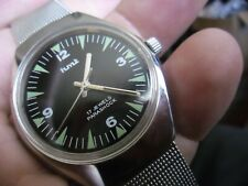 nice gents hmt parashock military style 17 jewels hand wind watch
