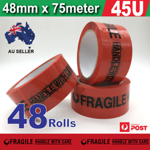 48x Fragile Packing Packaging tape sticky FRAGILE tape box carton 75mx48mm