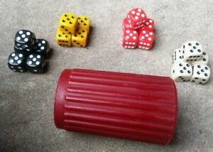Ribbed Maroon Dice Cup for Gambling Dice Games Bunco Board Games Role Playing