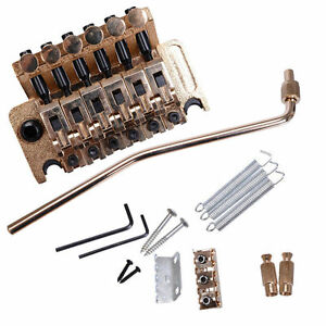 Floyd Rose Double Locking Tremolo System Bridge For Electric Guitar Parts Gold
