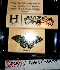 STAMPIN UP STRENGTH AND HOPE 4 RUBBER STAMPS BUTTERFLY