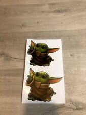 Baby yoda decal - Set of 2 medium sized baby yoda stickers