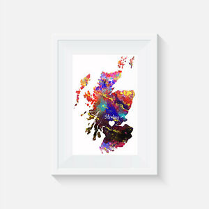 Scotland Stirling, watercolor, print, poster, picture, gift, wall art, home