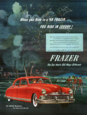 Red Kaiser Frazer Manhattan Fox Hunt HUNTING Ride In Luxury 1949 Print Ad