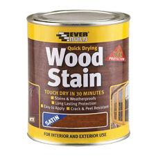 Everbuild Wood Stain 750ml Indoor and Outdoor Quick Drying Oak Teak Walnut