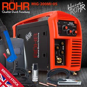 MIG Welder Inverter Gas / Gasless MMA 3-in-1 IGBT 240V 200 amp DC - ROHR 05