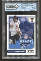 2017 Patrick Mahomes Score Draft #2 RC Rookie Gem Mint 10 Kansas City Chiefs
