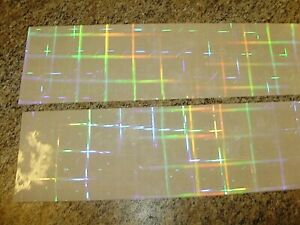 """3"""" x 12"""" 2 Pack Disco Plaid Clear (No Color) Holographic Fishing Lure Tape"""
