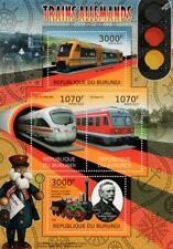 Trenes alemán (Saxonia/ICE TD/Regio Shuttle/clase 614 hoja de sellos)/2012 Burundi