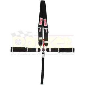 Simpson Drag Racing 5 Point Harness Black Camlock Pull Down Wrap Around