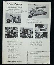 RARE 1970s Golden State Leisure Co Boondocker Passenger Vehicle Go Kart Cart Ad