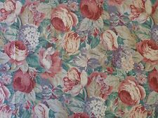 "Floral Red Green Purple Upholstery Fabric 4+ Yards x 54"" Wide Robert Metzger"
