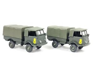 2x Vintage SOLIDO 203 Camion RENAULT 4X4 All Terrain Military Truck VGC France