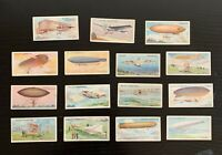 Lot of 15 1910 Wills Cigarettes Aviation Cards (A Series of 50) - All Different