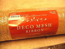 "Hobby Lobby Gold DECO Mesh Ribbon 21"" X 30' , New in the Wrap"