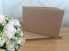 Brown Blank / Plain Guestbook with box  - Birthdays, Weddings, Christenings  NEW