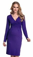Maternity Pregnancy Long Sleeve Office Cocktail Jersey Dress 285
