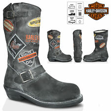 Womens Ladies Harley Davidson Dusted Motor Cycle Leather Biker Boots Size UK 3-8