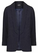 NWT Topshop PETITE Pinstripe Blazer, Black, EUR 38 /US 6, $100 RETAIL
