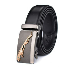 Hot Sale New Men's Cowskin Leather Belt Automatic Buckle Strap Gift Jeans Dress